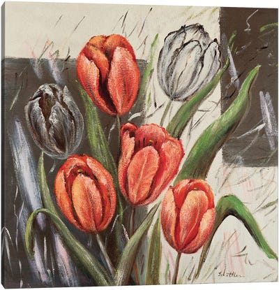 Orange Tulips Canvas Art Print