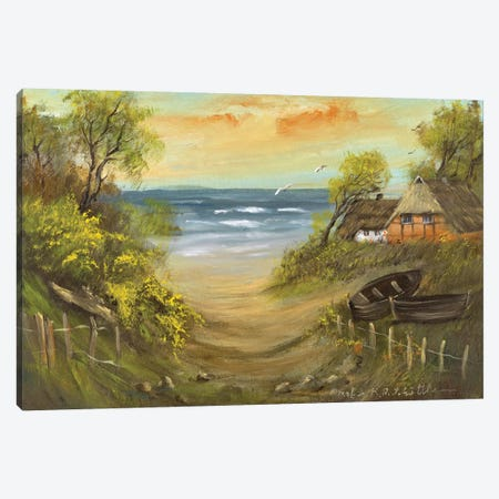 Path To The Beach Canvas Print #INA37} by Katharina Schöttler Canvas Artwork