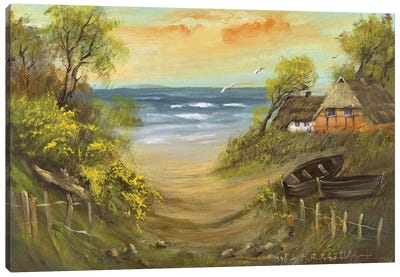 Path To The Beach Canvas Art Print