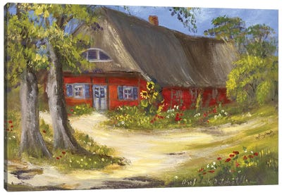 Red House Canvas Art Print
