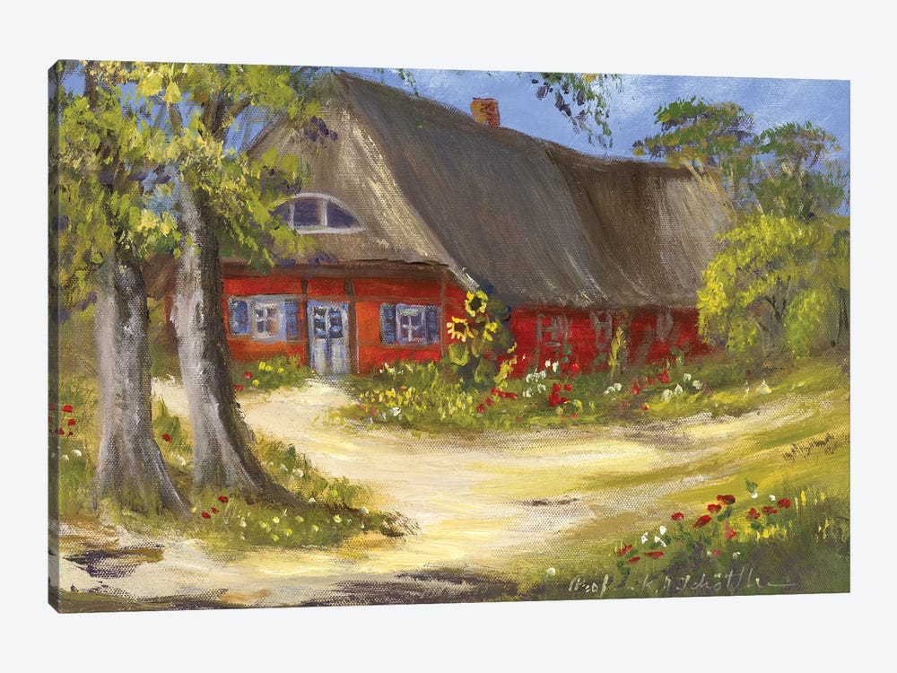 Red House by Katharina Schöttler 1-piece Canvas Print