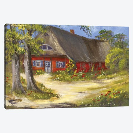 Red House Canvas Print #INA39} by Katharina Schöttler Canvas Print