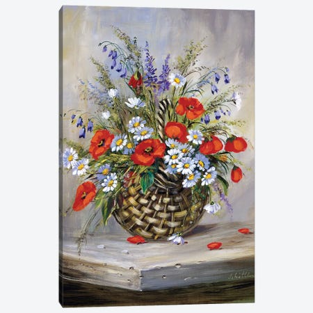 Blooming Basket Canvas Print #INA3} by Katharina Schöttler Canvas Artwork