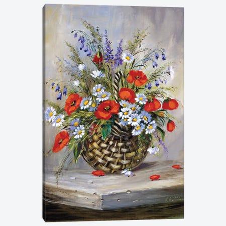 Blooming Basket Canvas Print #INA3} by Katharina Schöttler Canvas Artwork