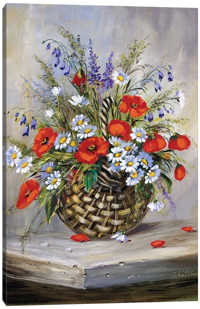 Blooming Basket Canvas Art Print