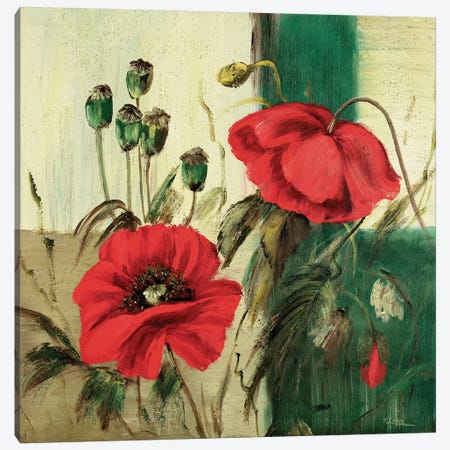 Red Poppies Composition II 3-Piece Canvas #INA41} by Katharina Schöttler Canvas Artwork