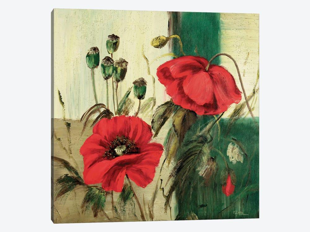 Red Poppies Composition II by Katharina Schöttler 1-piece Canvas Art