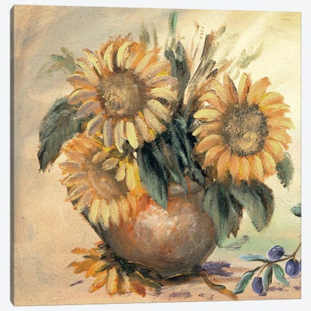 Sunflower Bouquet Ll Canvas Print #INA44} by Katharina Schöttler Art Print