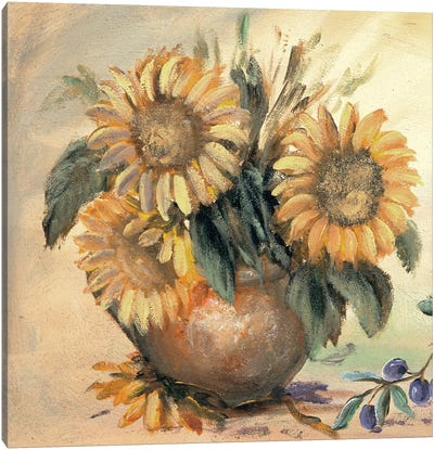 Sunflower Bouquet Ll Canvas Art Print
