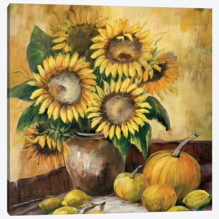 Sunflower Bouquet LV Canvas Print #INA45} by Katharina Schöttler Canvas Art Print