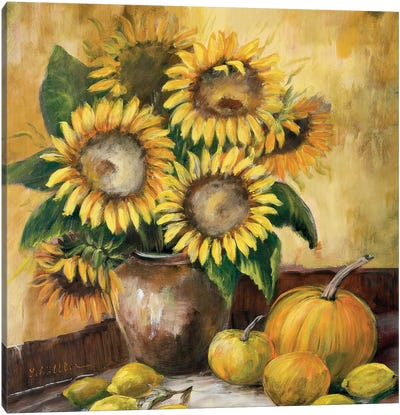 Sunflower Bouquet LV Canvas Art Print