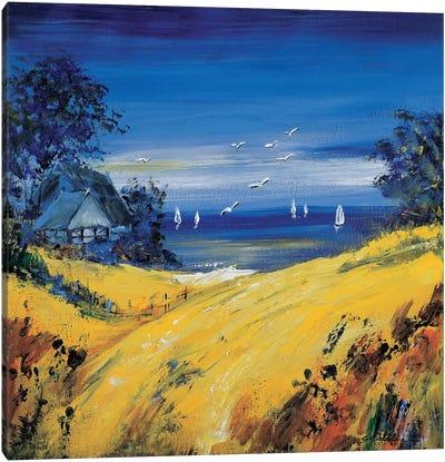 The Sea And Birds Canvas Art Print