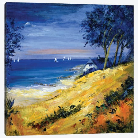 The Sea And Home Canvas Print #INA49} by Katharina Schöttler Canvas Wall Art