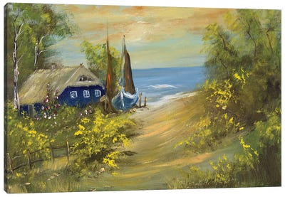 Blue House I Canvas Art Print