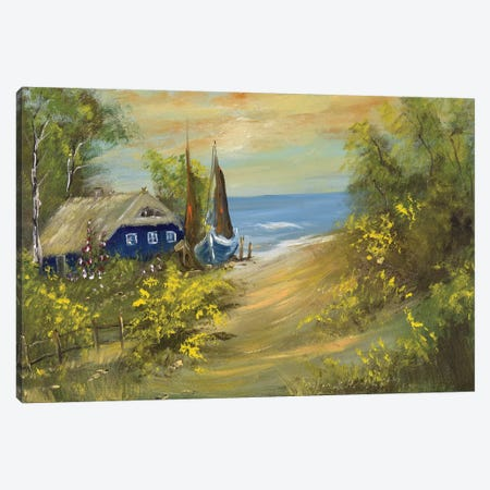 Blue House I Canvas Print #INA4} by Katharina Schöttler Art Print