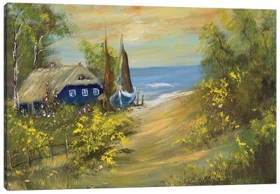Blue House I Canvas Art Print