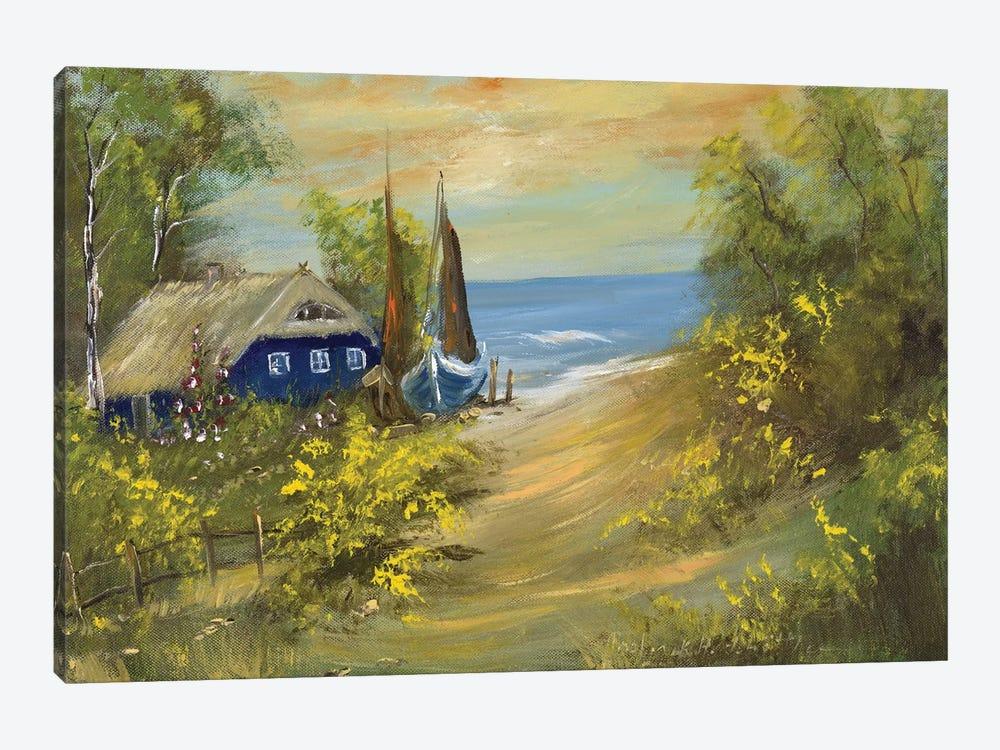 Blue House I by Katharina Schöttler 1-piece Canvas Artwork
