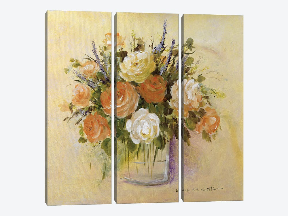 Traditional Bouquet I by Katharina Schöttler 3-piece Canvas Artwork