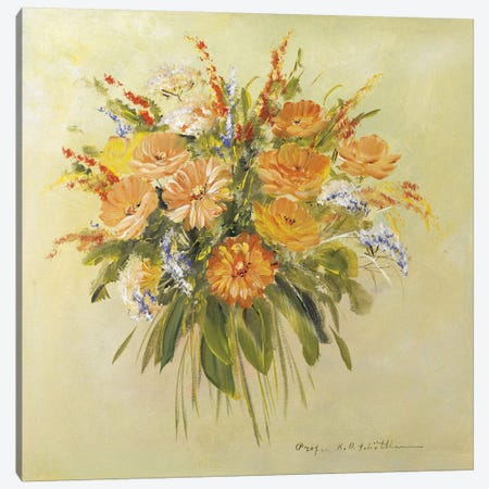 Traditional Bouquet II Canvas Print #INA51} by Katharina Schöttler Art Print