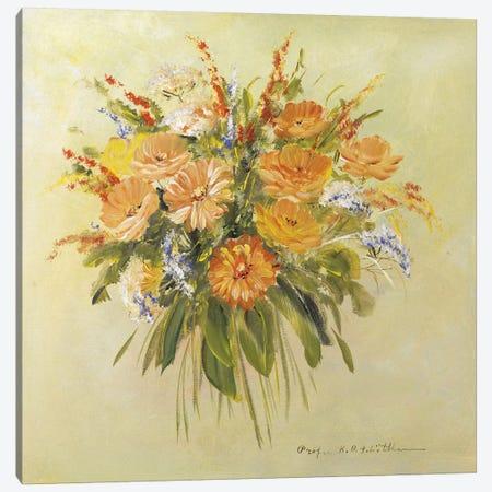 Traditional Bouquet II Canvas Print #INA51} by Katharina Schöttler Art Print