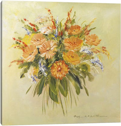 Traditional Bouquet II Canvas Art Print
