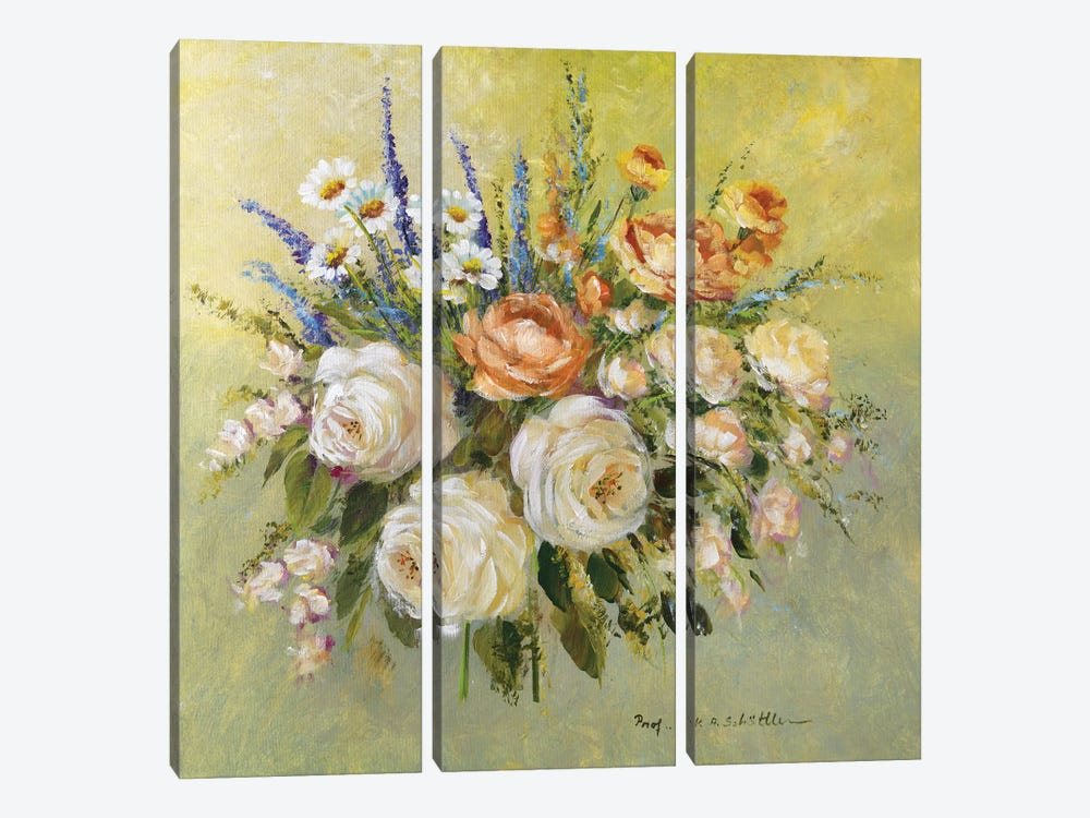 Traditional Bouquet III by Katharina Schöttler 3-piece Canvas Art