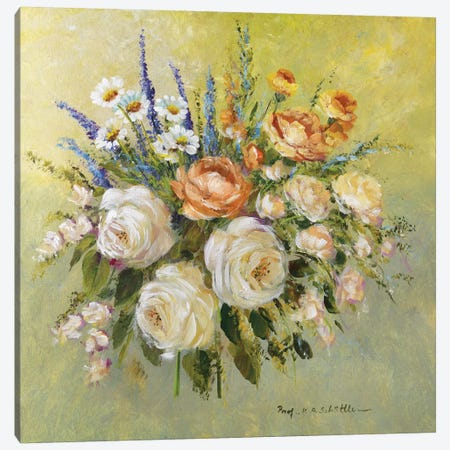 Traditional Bouquet III Canvas Print #INA52} by Katharina Schöttler Canvas Print