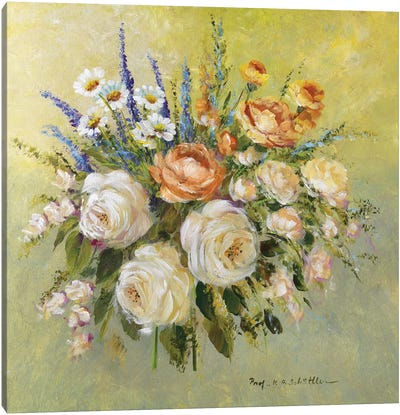 Traditional Bouquet III Canvas Art Print
