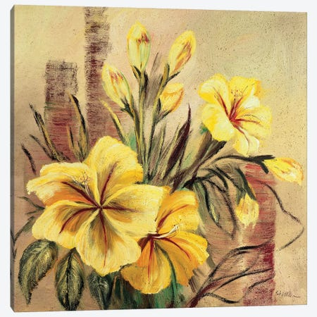 Yellow Creation II 3-Piece Canvas #INA59} by Katharina Schöttler Art Print