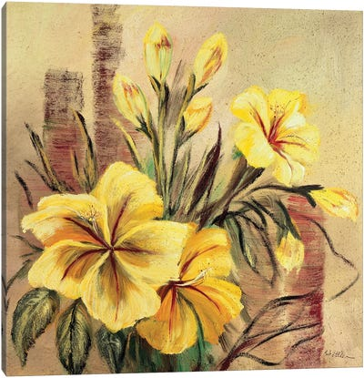 Yellow Creation II Canvas Art Print