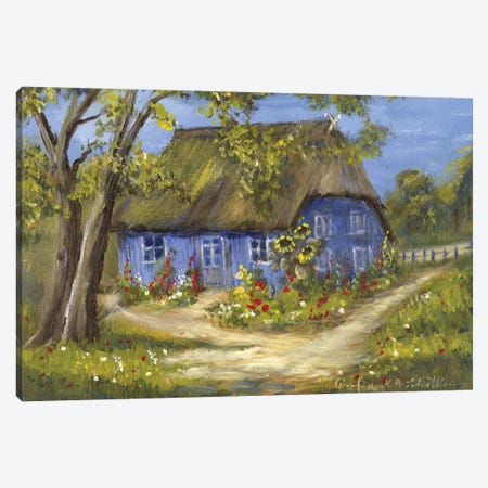 Blue House II Canvas Print #INA5} by Katharina Schöttler Canvas Art Print