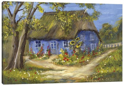 Blue House II Canvas Art Print