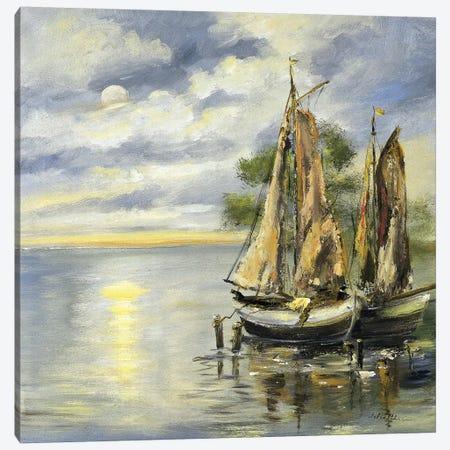 Boats Lie At Anchor Canvas Print #INA6} by Katharina Schöttler Canvas Print