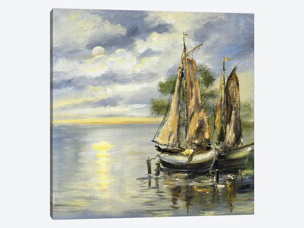 Boats Lie At Anchor by Katharina Schöttler 1-piece Canvas Wall Art