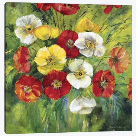 Bright Coloured Bouquet Canvas Print #INA9} by Katharina Schöttler Canvas Wall Art