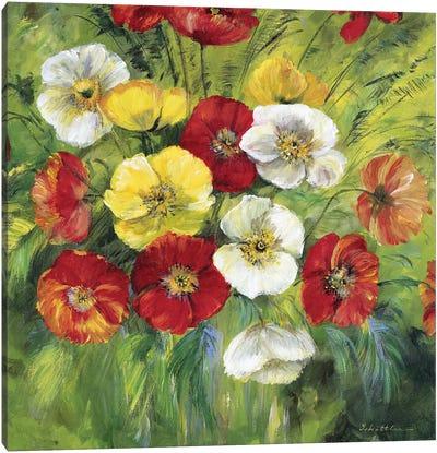 Bright Coloured Bouquet Canvas Art Print
