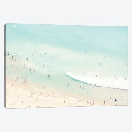 Beach Love I Canvas Print #INB11} by Ingrid Beddoes Canvas Artwork