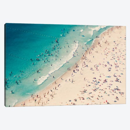 Beach Summer Fun I Canvas Print #INB16} by Ingrid Beddoes Art Print