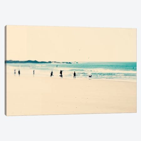 Beach Sunday Canvas Print #INB18} by Ingrid Beddoes Canvas Art