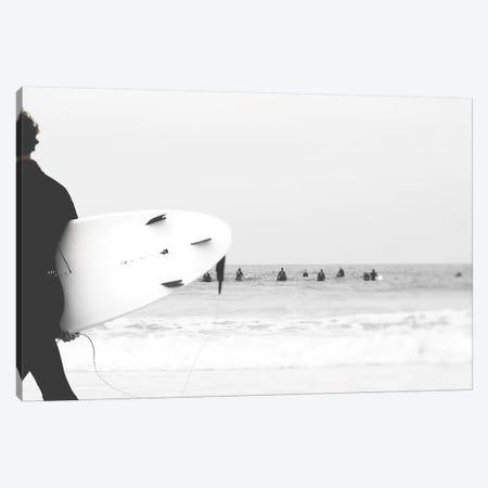 Catch A Wave II Canvas Print #INB29} by Ingrid Beddoes Art Print