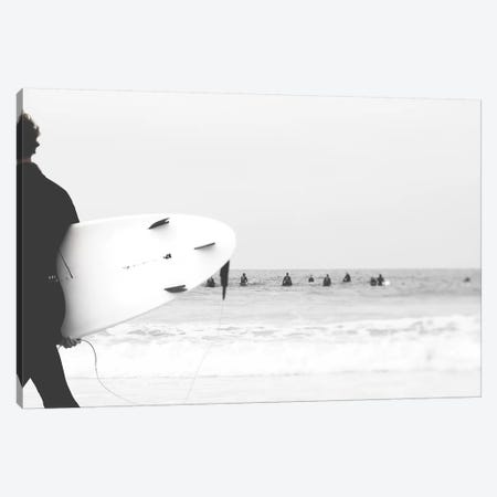 Catch A Wave II Canvas Print #INB29} by Ingrid Beddoes Art Print