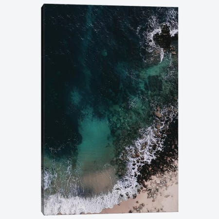 Emerald Green Ocean Canvas Print #INB39} by Ingrid Beddoes Canvas Artwork