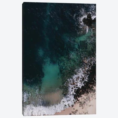 Emerald Green Ocean Canvas Print #INB39} by Ingrid Beddoes Canvas Artwork