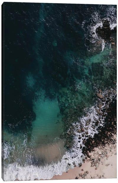 Emerald Green Ocean Canvas Art Print
