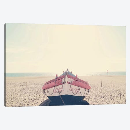 Nazare Fishing Boat Canvas Print #INB56} by Ingrid Beddoes Art Print