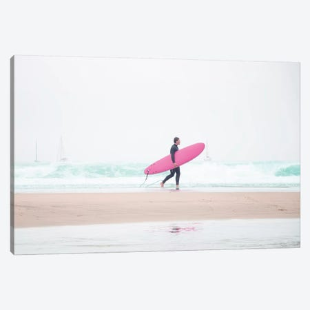 Surfing Beach Vibes Canvas Print #INB80} by Ingrid Beddoes Art Print
