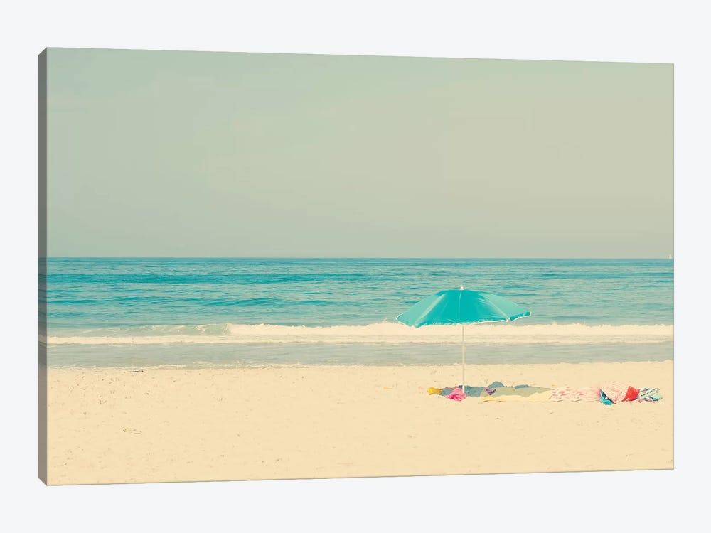 The Blue Umbrella by Ingrid Beddoes 1-piece Canvas Artwork