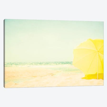The Yellow Umbrella Canvas Print #INB88} by Ingrid Beddoes Canvas Art Print