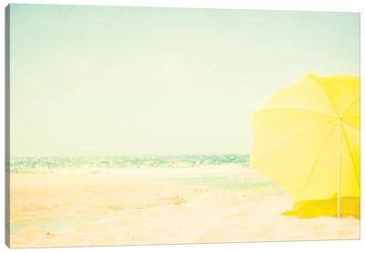 The Yellow Umbrella Canvas Art Print