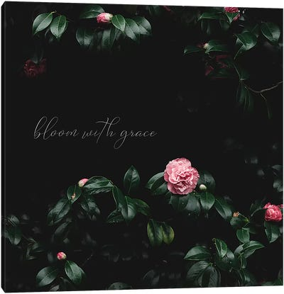 Bloom With Grace Canvas Art Print